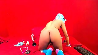 Crazy and Funny African Moaning on Huge Dildo