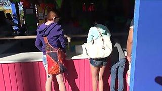 POV double date with Kiera Winters and Lara Brookes creampie