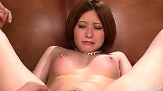 Kinky Japanese Ruri Haruka screams when she is pleased