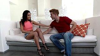 Kinky teens feet jizzed