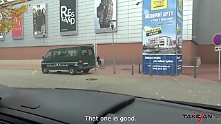 Takevan - Blonde chick caught in shopping mall and convinced to fuck