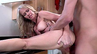 Mean mom Simone Sonay gets fucked by daughters man