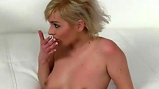 Sweet slut ballslicking