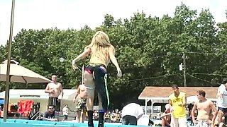Homevideo Of Spring Break Poolside Stripping - DreamGirls