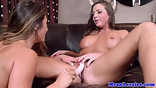 Busty lesbian Abigail Mac gets back with exgf