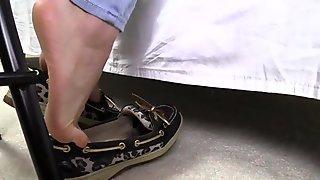 Lelu Love-Boat Shoes Dipping Dangling POV Tickling