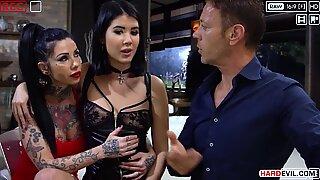 Rocco supplies again, trio Sexbombs in a gang Gangbang - Lady Dee, Megan Inky, Lilu Moon, Alisha Rage