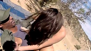 gangbang interracial Latina Babe Fucked By the Law