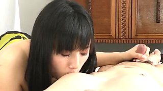 Azusa Nagasawa's mouth blasted with his dick