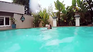 Sexy Lyra Louval gets pounded by her boyfriend by the pool