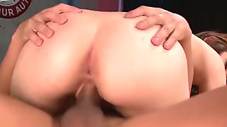 Sultry RURI HARUKA hops on sturdy cock in cowgirl style