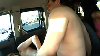 Furious sluts Ashli Orion, Heather Hurley and Chelsie Rae fuck a guy in a truck