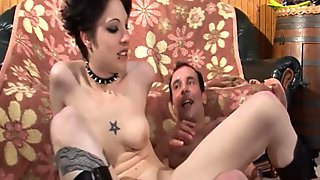 Naughty french slut ass hammered with cum 2 mouth