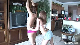 Teen Strippers Hanging Out At Home - DreamGirls